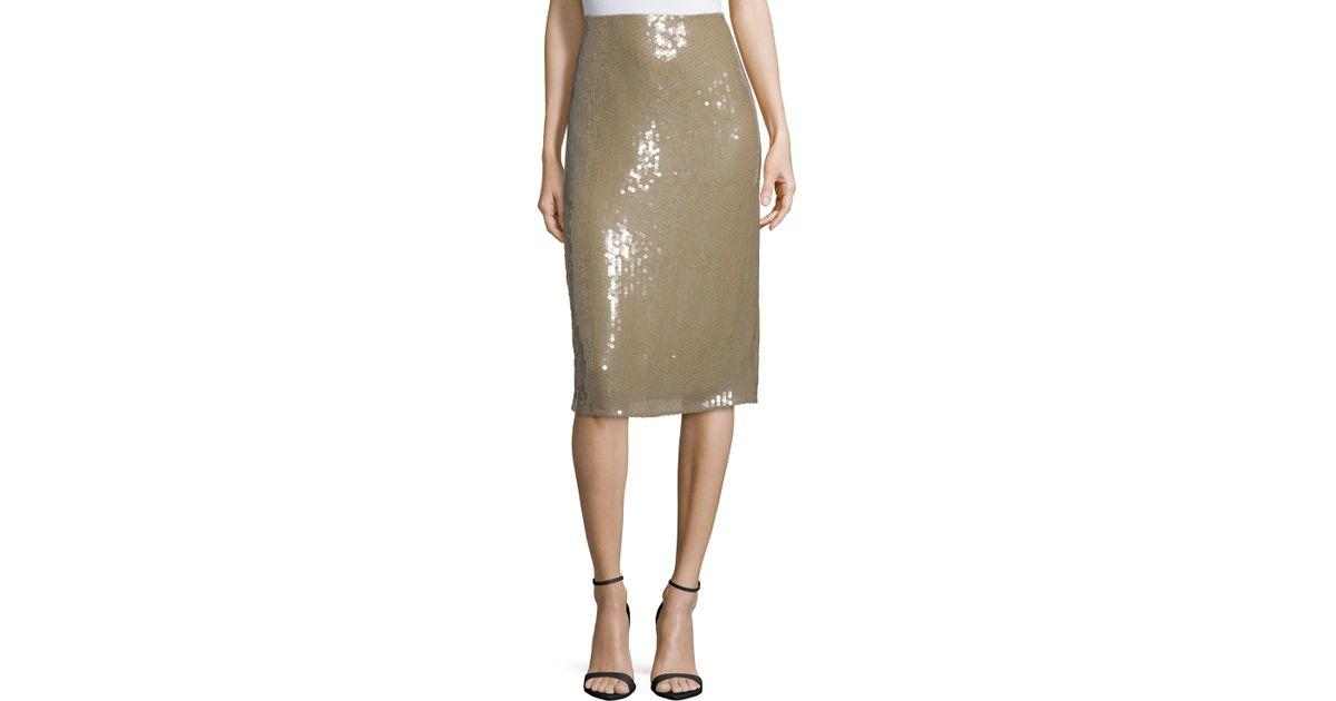ricci embellished below knee pencil skirt in