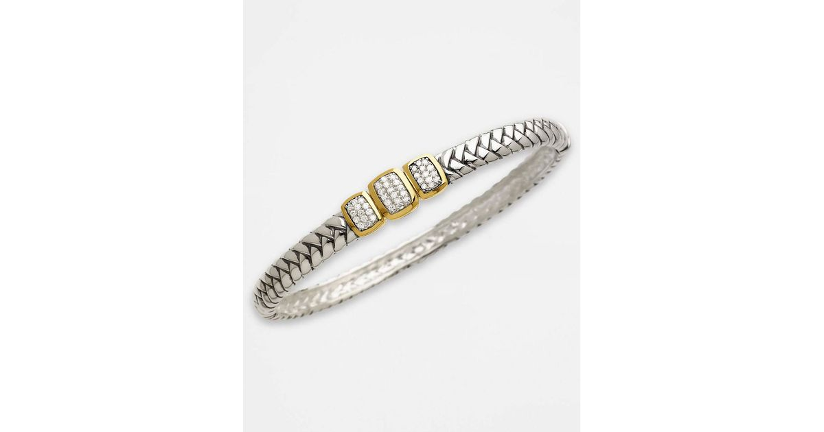 in gold and silver eternity bracelet bangle sterling time diamond yellow bangles