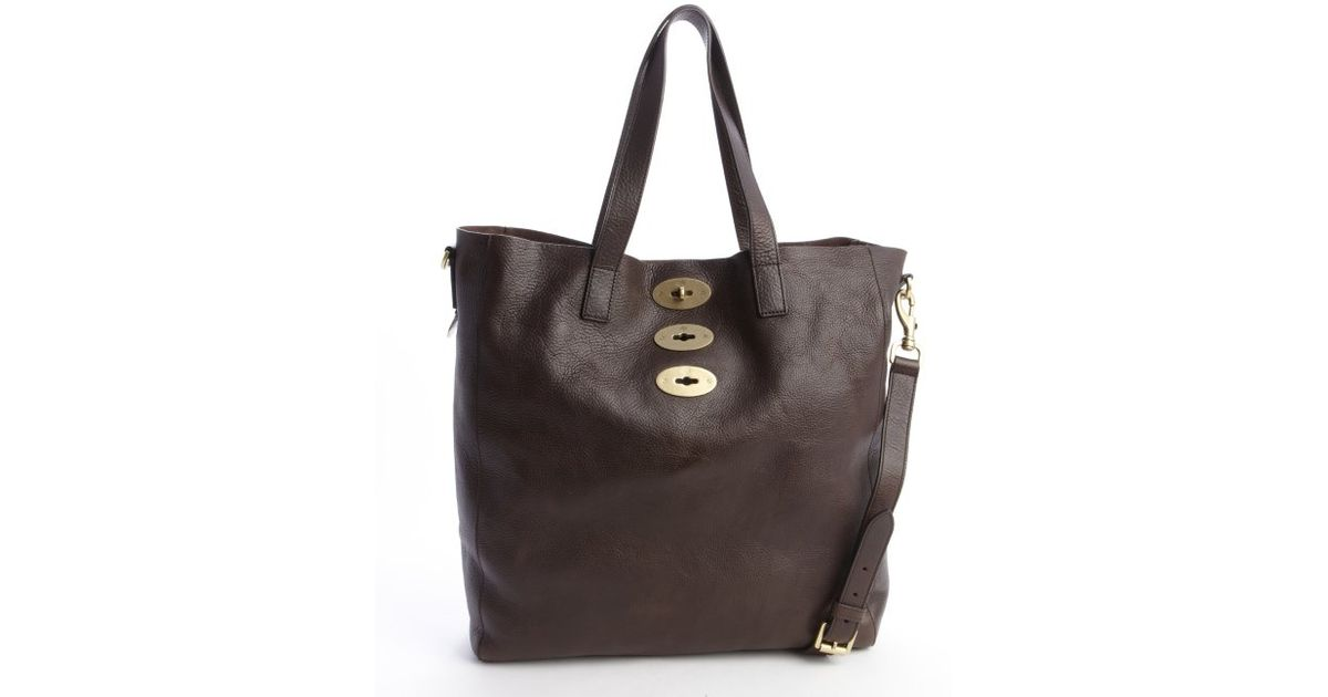 5a400060a6 ... sweden lyst mulberry chocolate brown leather brynmore tote in brown  bc34b 6cf26 ...
