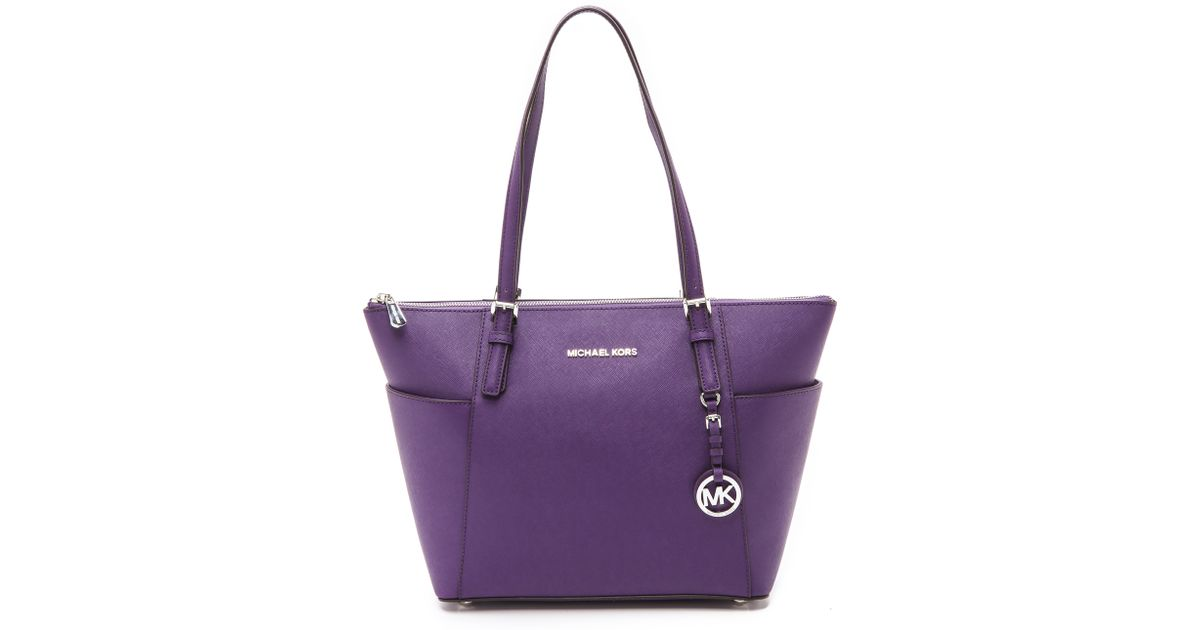 06db5a639afb MICHAEL Michael Kors Jet Set Tote - Grape in Purple - Lyst