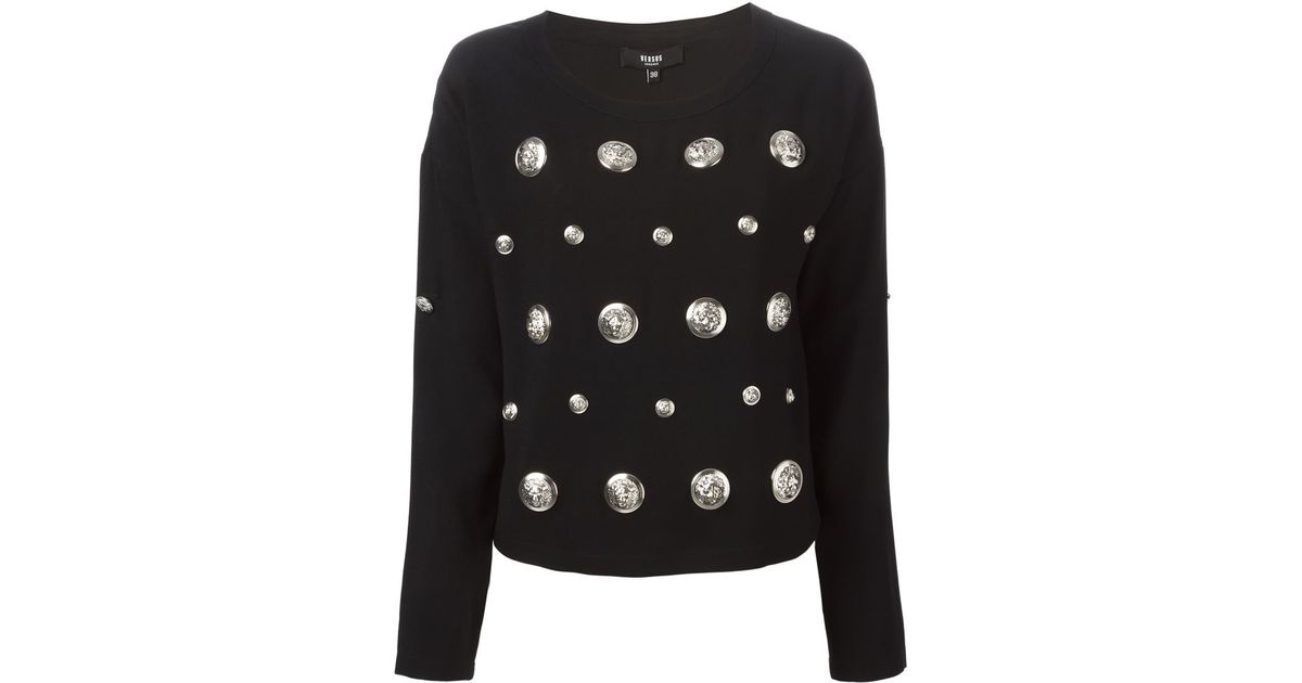 Store With Big Discount sequin-embellished medallion sweatshirt - Black Versus Latest For Sale Cheapest Price Sale Online XUsue