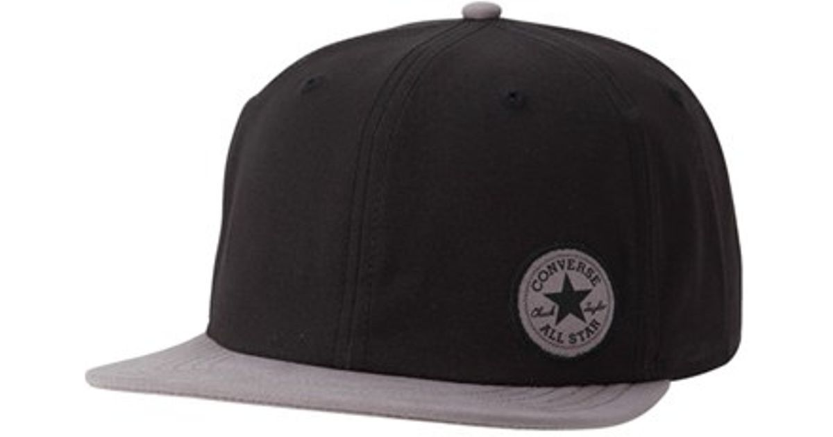 Lyst - Converse Colorblock Patch Cap in Black for Men 3b3d30bddf8