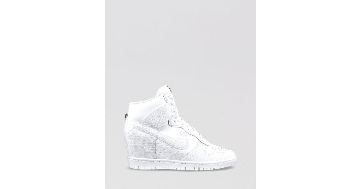 5b51ff49 Nike High Top Wedge Sneakers Womens Dunk Sky Hi in White - Lyst