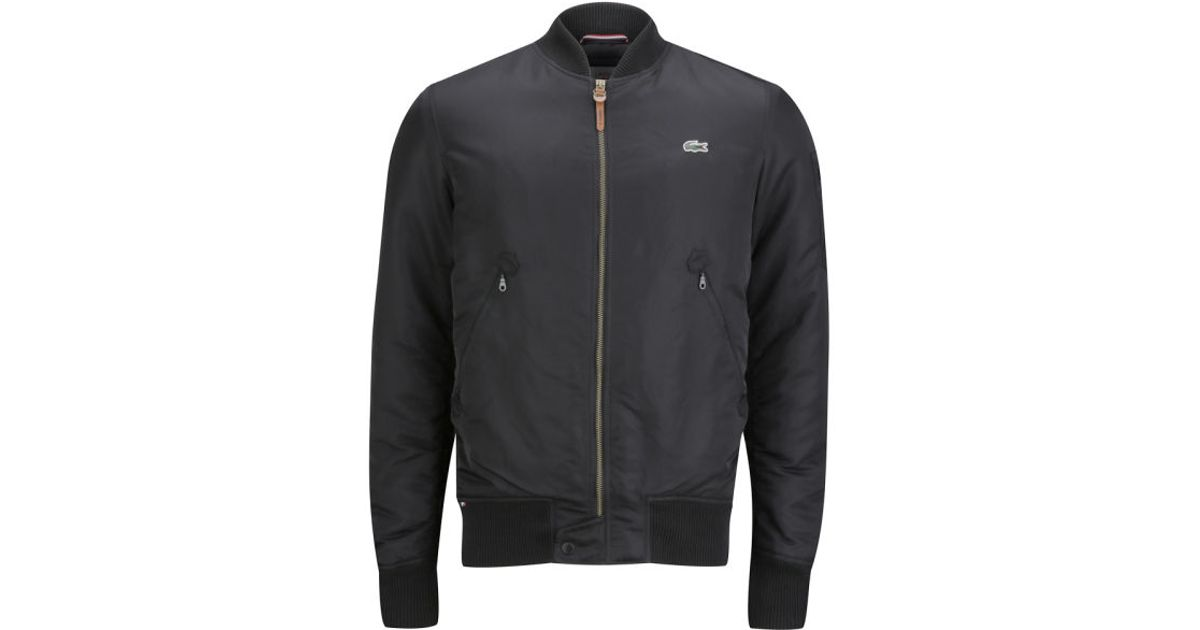 5f0a37a559d8 Lacoste Mens Bomber Jacket in Black for Men - Lyst