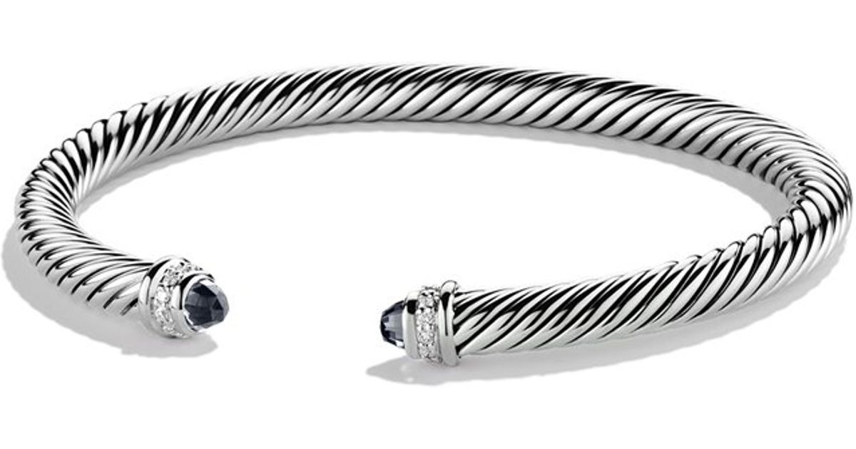 David Yurman Cable Classics onyx and diamond cuff bracelet Cheap Sale Perfect Popular And Cheap From China gAh2k