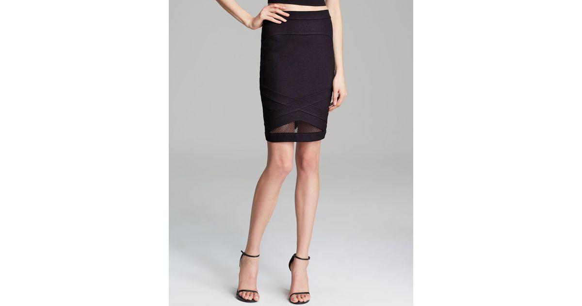 deb050cdc5 Guess Sport Mesh Nuri Ponte Skirt in Black - Lyst