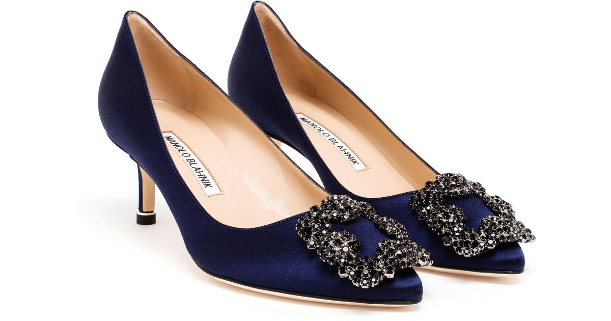 Manolo Blahnik Hangisi Embellished Pumps fast delivery cheap online fashionable cheap online order cheap online 1ZcEg