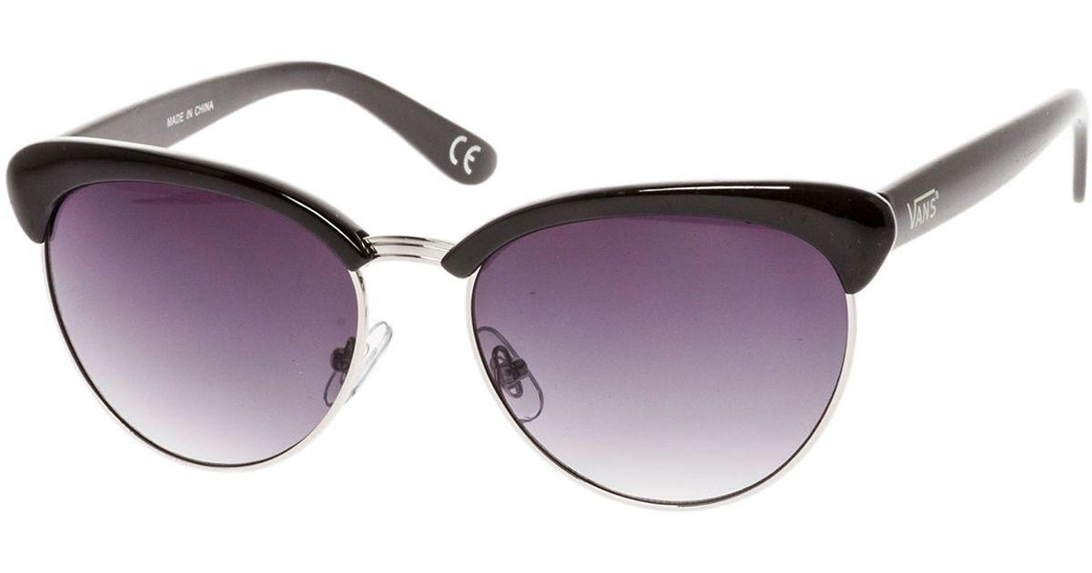 987c4c9b7f Lyst - Vans The Semi-Rimless Cat Sunglasses in Purple