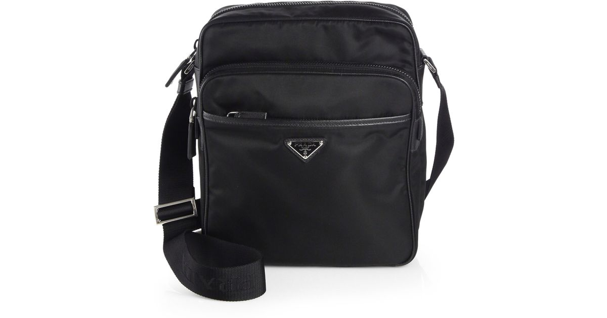 Prada Nylon Camera Bag in Black for Men | Lyst - Prada Toro leather flap shoulder bag