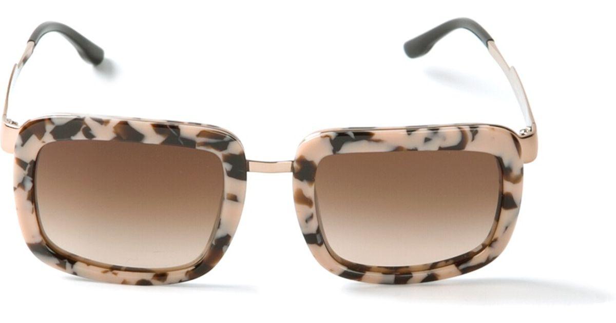 38cc593d5d Lyst - Stella McCartney Tortoise Shell Sunglasses in Pink