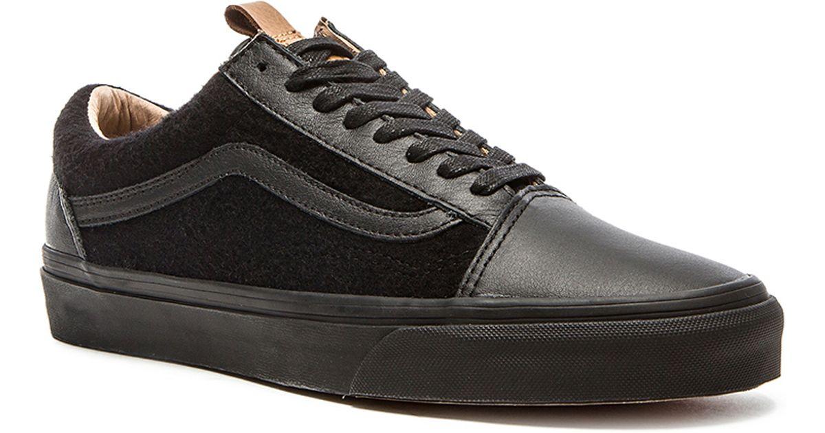1e2abf3751 Lyst - Vans California Old Skool Reissue Leather   Wool in Black for Men