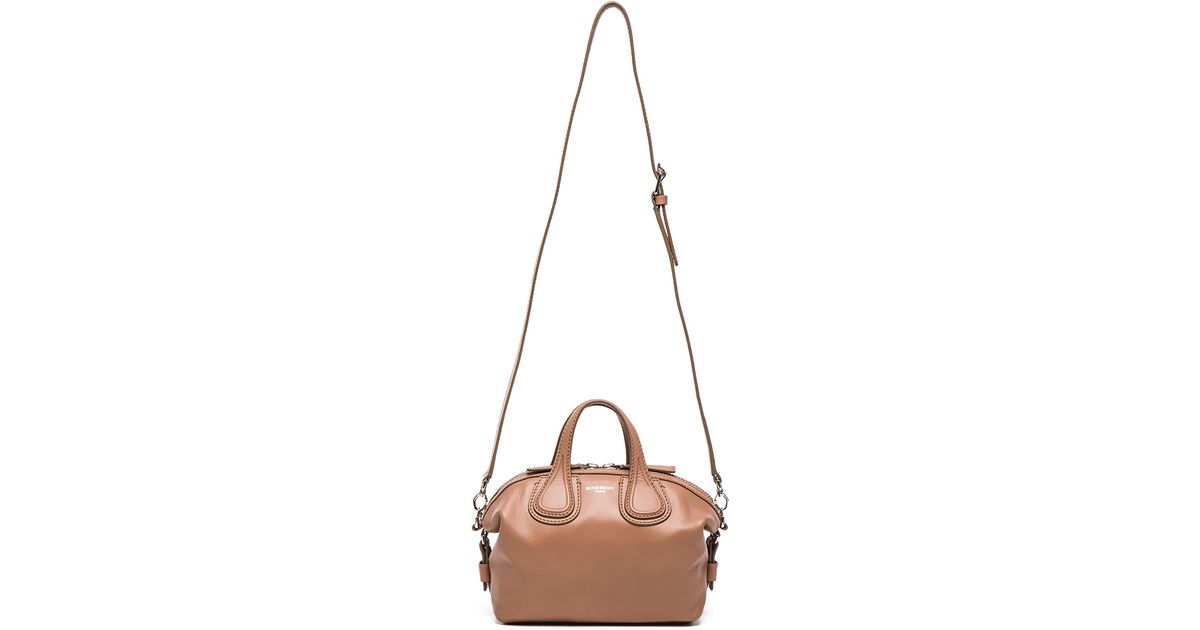 Lyst - Givenchy Micro Nightingale Leather Tote in Pink 7d27f94477038