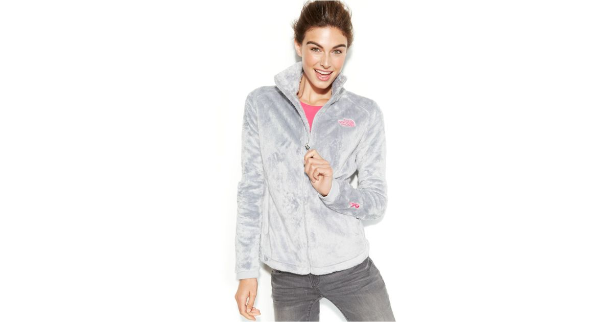 81cf842e726f ... where can i buy lyst the north face pink ribbon osito 2 fleece jacket  in gray
