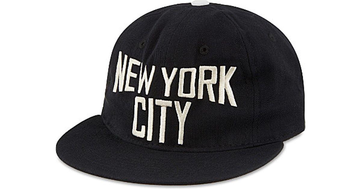 32db37b339d Lyst - Ebbets Field Flannels New York City Cotton Ballcap in Black for Men