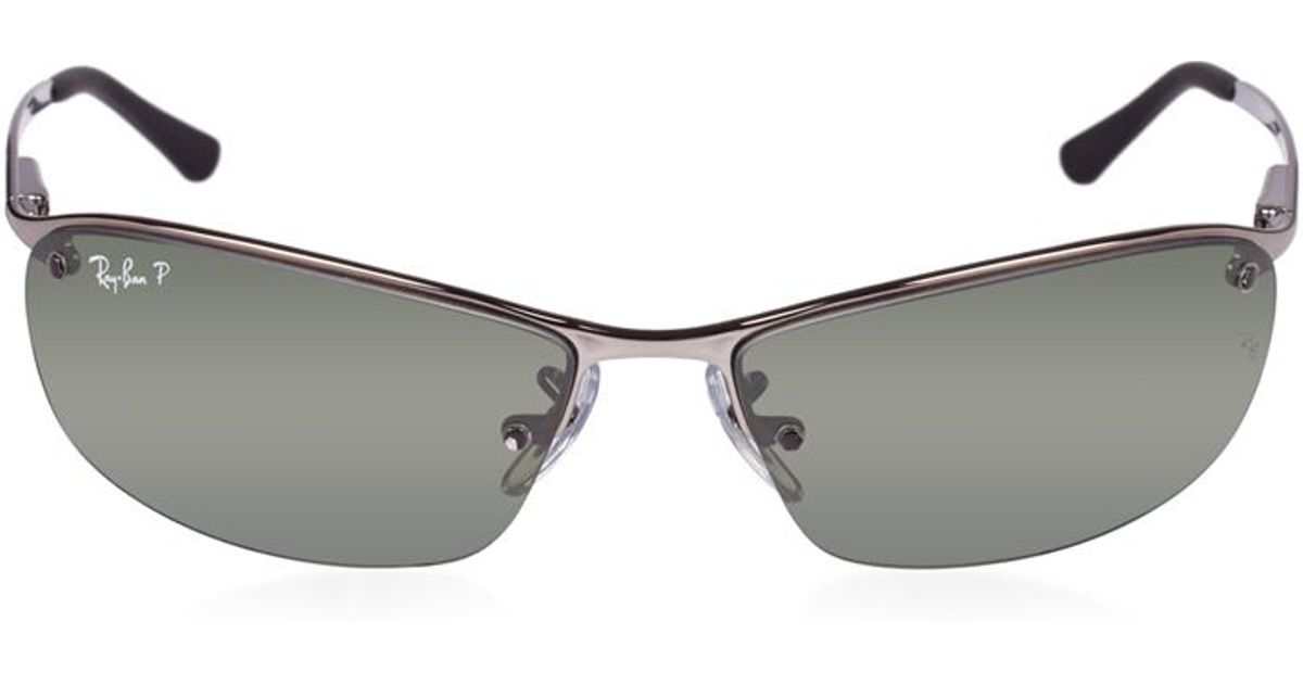 ray ban rb3183 sunglasses in metallic for men lyst. Black Bedroom Furniture Sets. Home Design Ideas