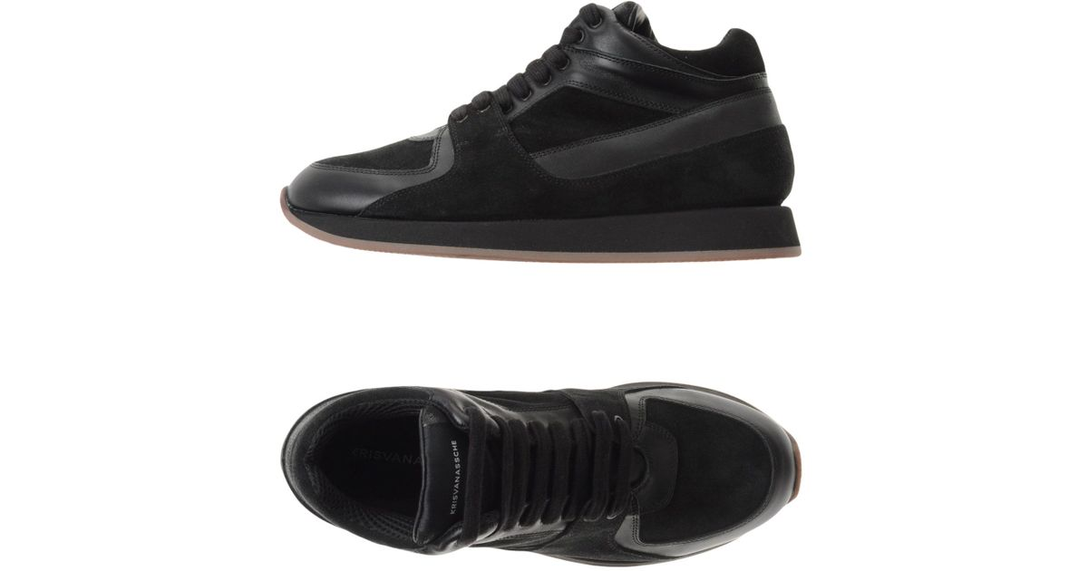76e7a922b9448d Lyst - Kris Van Assche Low-tops   Trainers in Black for Men