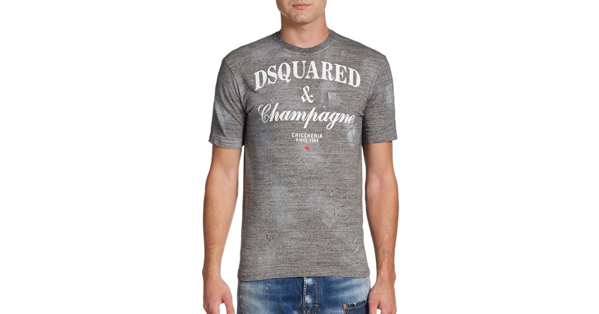 Champagne Tshirt For Men Lyst Dsquared² Gray In UzqMVGSp