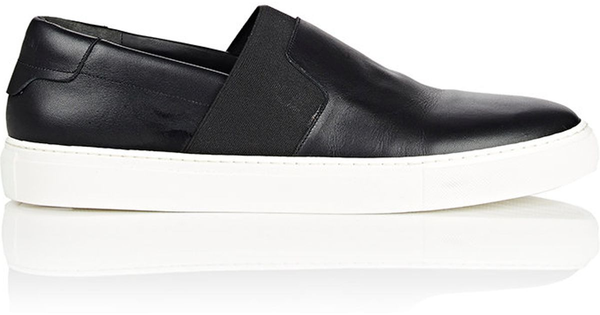 c0ea47486a Lyst - Balenciaga Leather Slip-On Sneakers in Black for Men