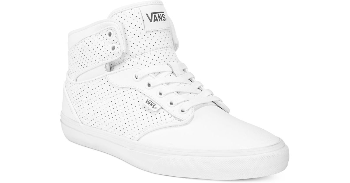 2f8cf8ec9da159 Lyst - Vans Men s Atwood Hi-top Sneakers in White for Men