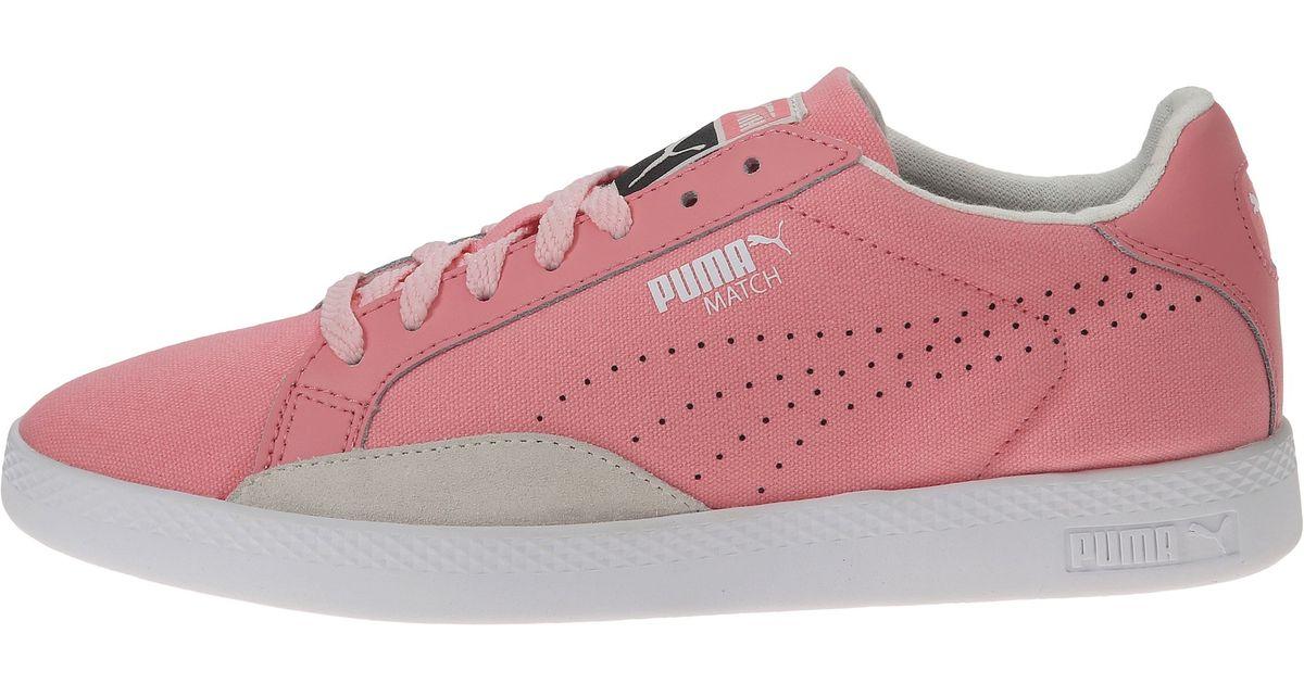 156a294c52d Lyst - PUMA Match Lo Canvas Sport in Pink