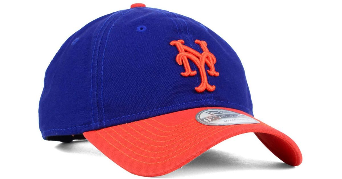 new style e9eaf 7e1ab ... canada lyst ktz new york mets 2 tone shoreline 9twenty cap in blue for  men a8dc4