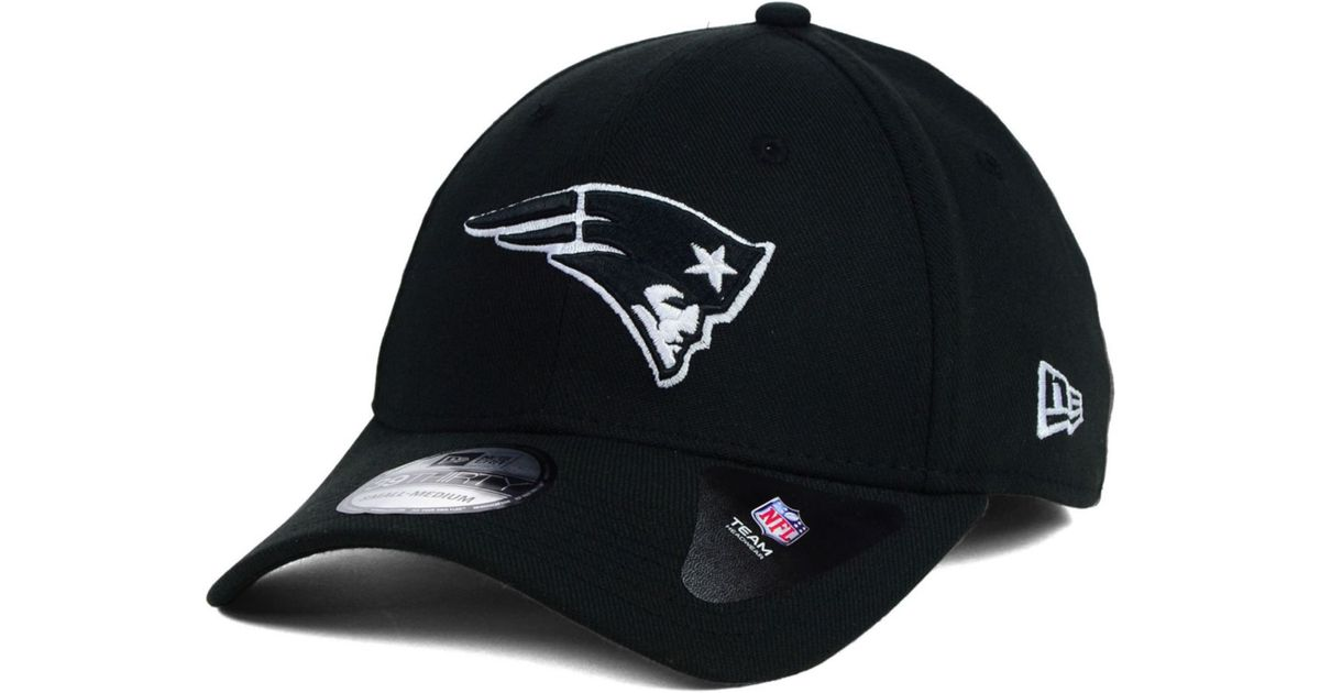 Lyst - KTZ New England Patriots Black and White Classic 39thirty Cap in  Black for Men fbe5b5a91