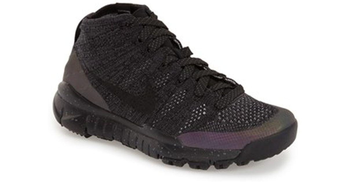 bcc4480ce03 ... france lyst nike flyknit trainer chukka fsb water repellent sneaker in  black for men e6b4e f396f