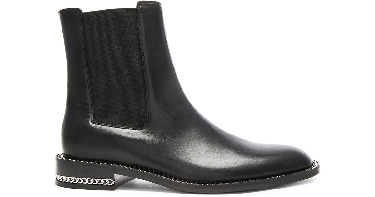 givenchy leather ronela flat ankle boots in black lyst