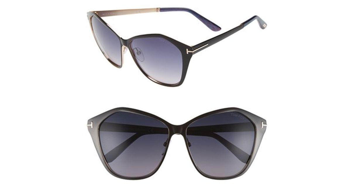 2b86cdce6715 Lyst - Tom Ford  lena  58mm Sunglasses in Black