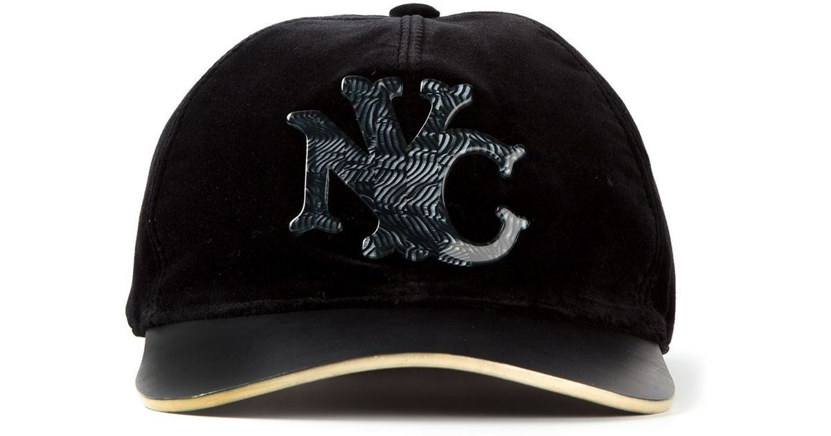 Lyst - Marc Jacobs Velvet Nyc Baseball Cap in Black for Men fd1eefb734f