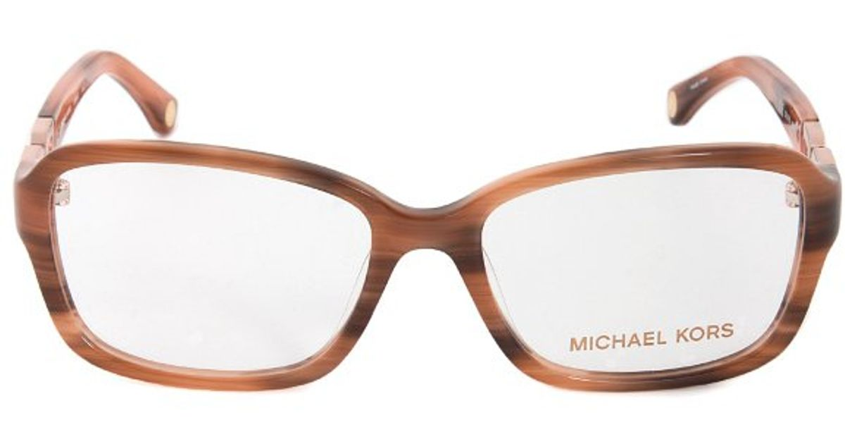 330f8f982c7 Lyst - Michael Kors Mk863 622 Brown Woodgrain Optical in Brown