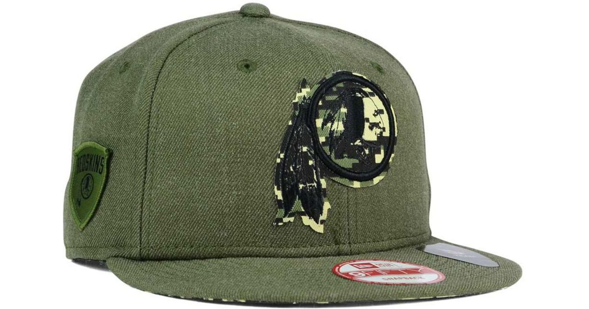 ... low price lyst ktz washington redskins sgt patch 9fifty snapback cap in  green for men 84ef6 2774e2e27