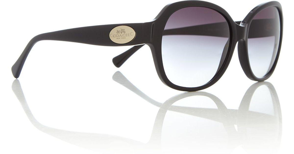 9e68ef13f7f4 ... top quality coach hc8150 female black square sunglasses in black lyst  3200e 309f3