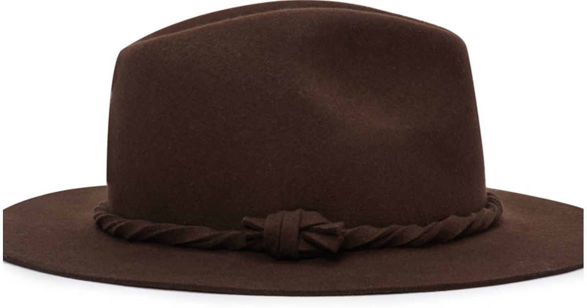 e9fd3d35952a8 Forever 21 Twist-band Wool Fedora in Brown - Lyst