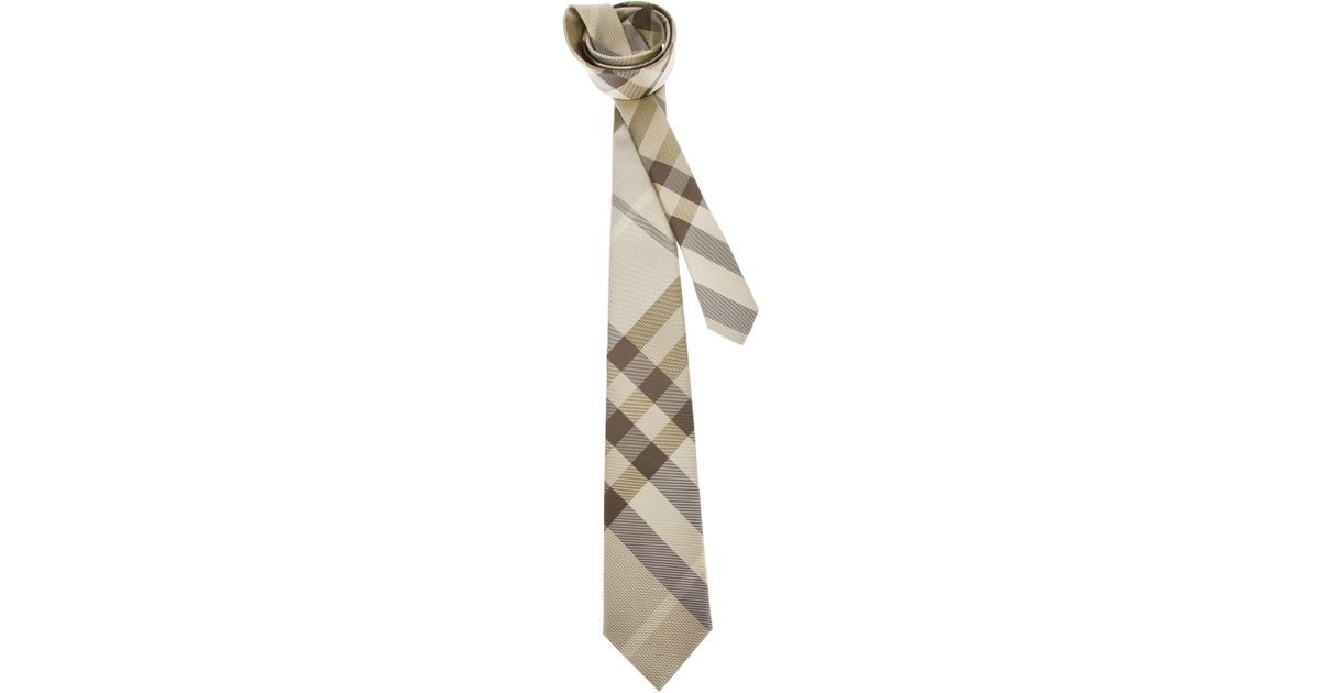 47c8fbcd0714 italy silk burberry tie b92a7 81950; new zealand lyst burberry classic check  tie in natural for men 9a71d bdef2