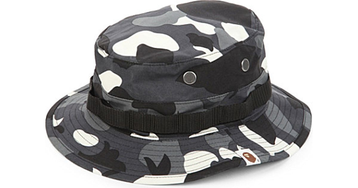 A Bathing Ape City Camouflage Glow-in-the-dark Cotton Bucket Hat in White  for Men - Lyst e0164c61254