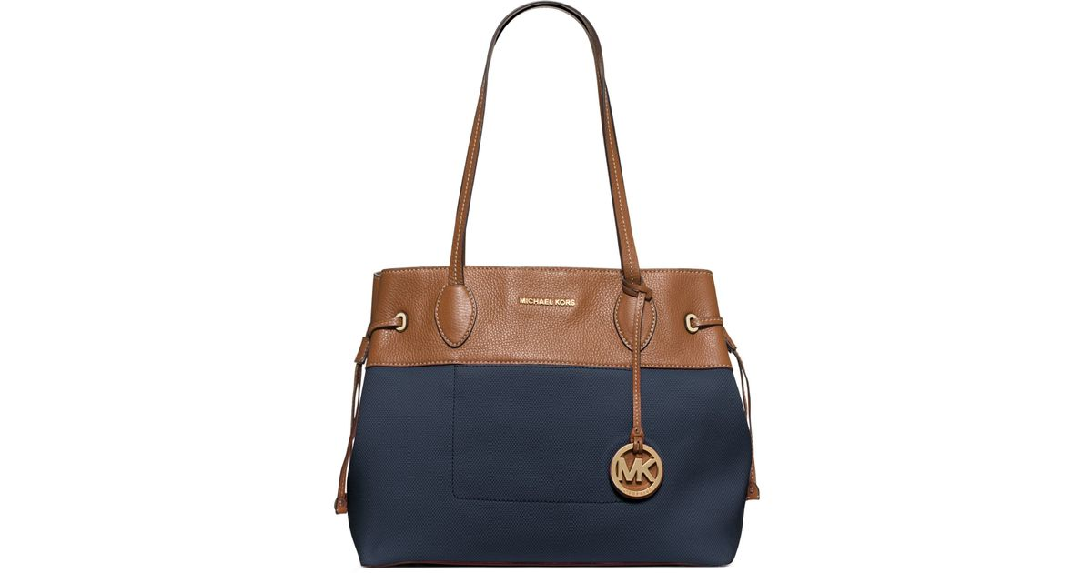 e6a33b71485f Lyst - Michael Kors Marina Large Canvas Tote in Blue