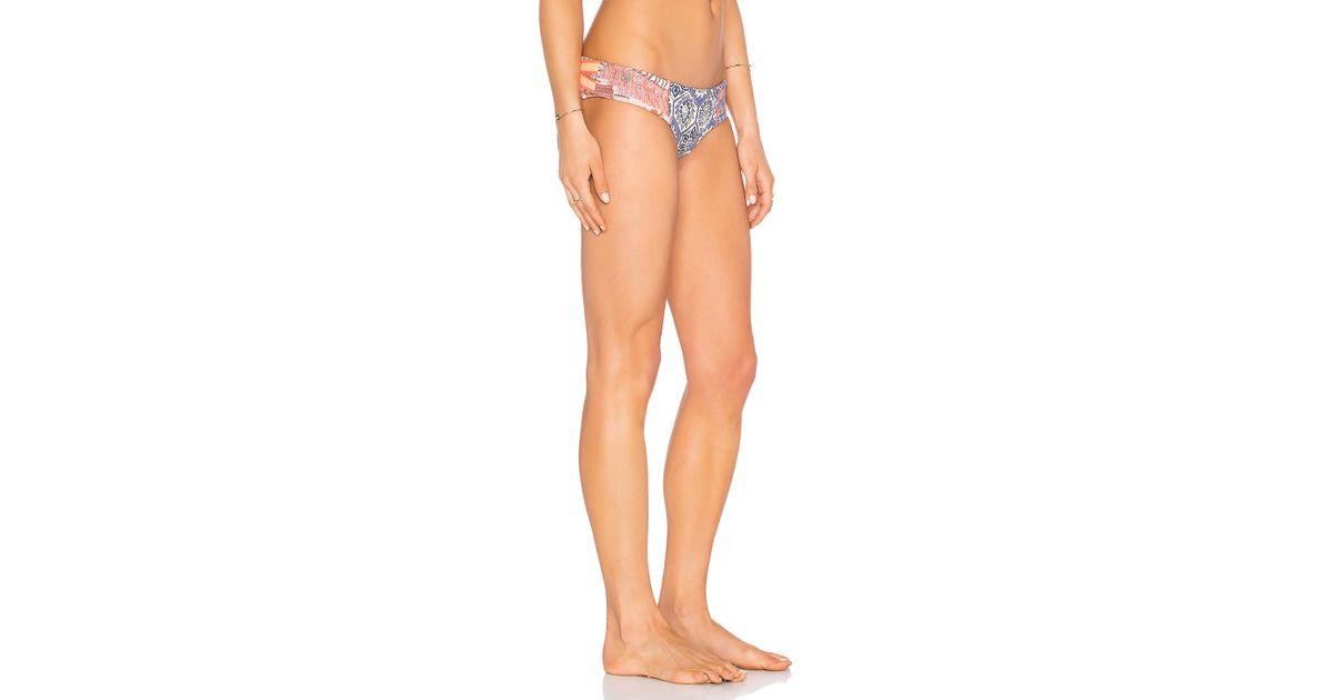 484baf889c Lyst - Maaji Southern Pacific Bikini Bottoms in Blue