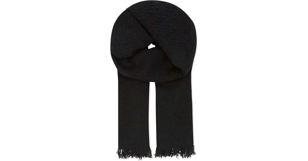 The Kooples Echarpe Wool Scarf in Black - Lyst 86d3b8b14b1