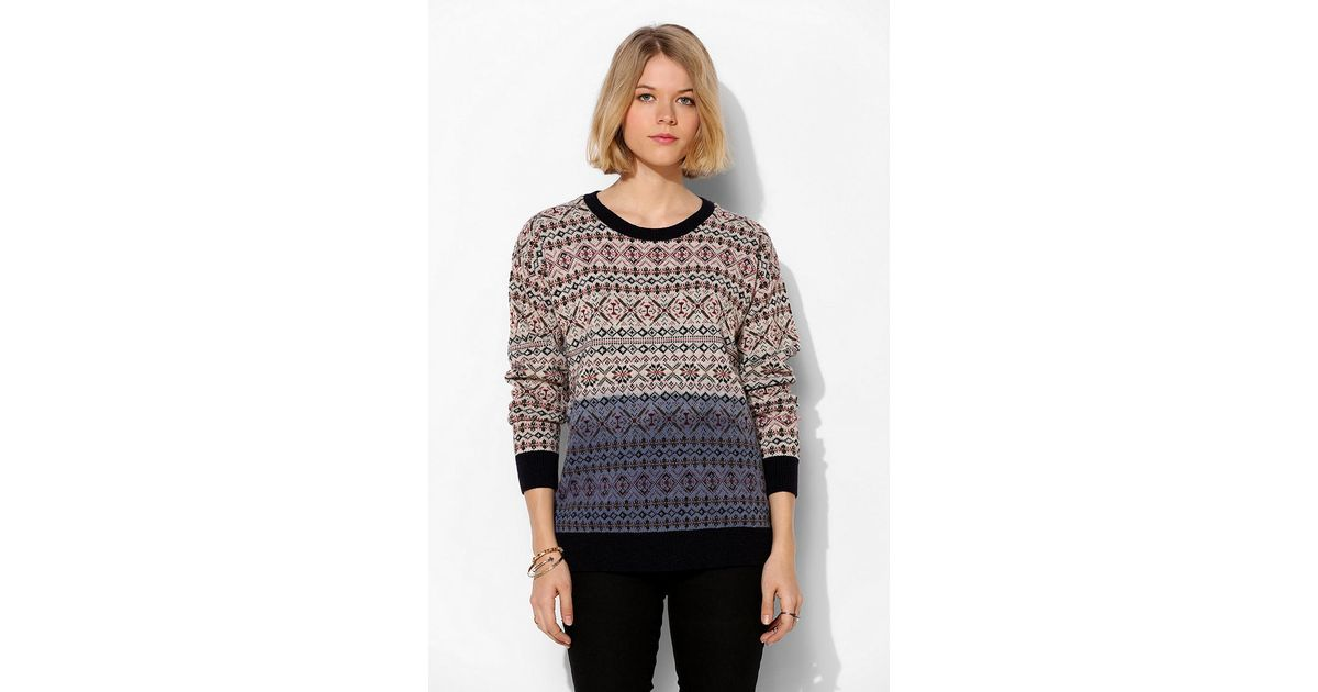 Urban outfitters Coincidence Chance Ombre Fair Isle Sweater in ...