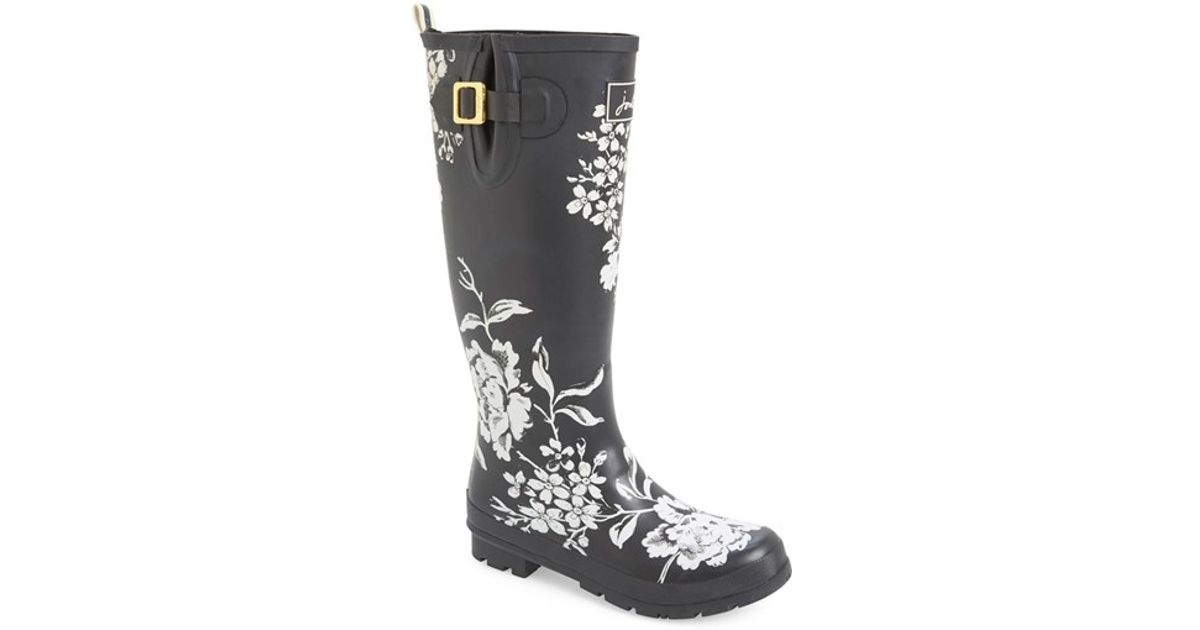 Joules Welly Print Rain Boot Lyst