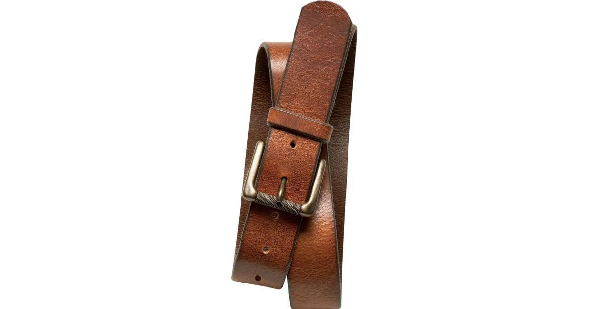 Banana republic Tumbled Italian Leather Belt in Brown for Men ...