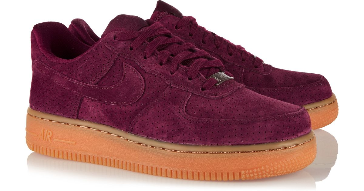 superior quality b6677 9a0d4 ... Nike Air Force 1 07 Suede Sneakers in Purple Lyst .