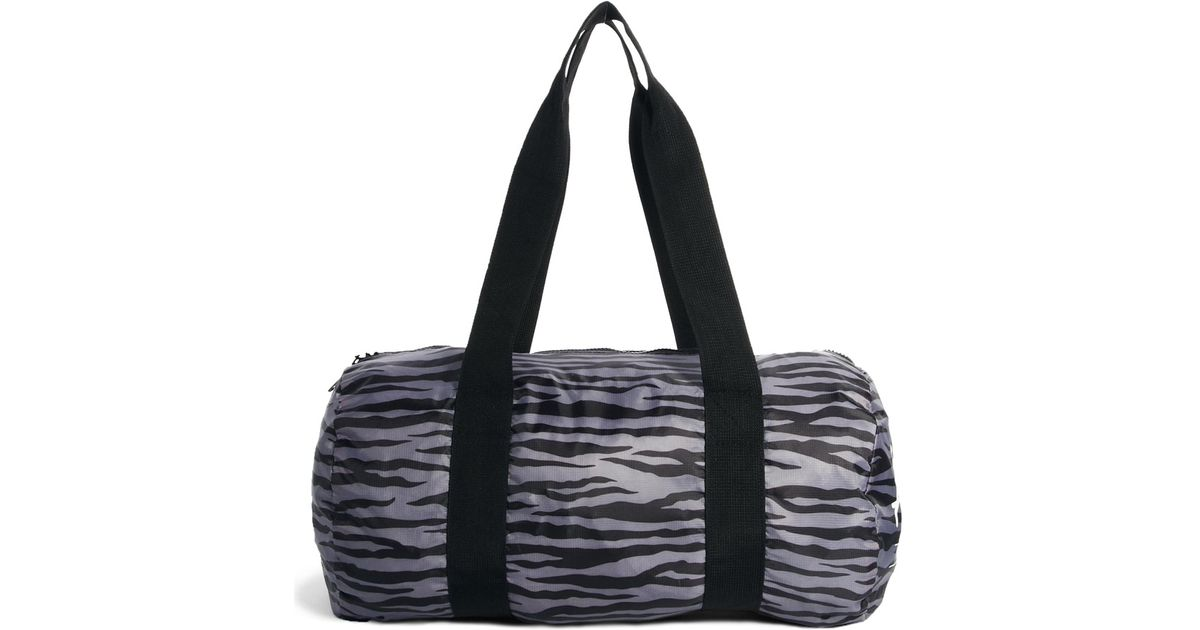 Packable Duffle Bag In Zebra Print