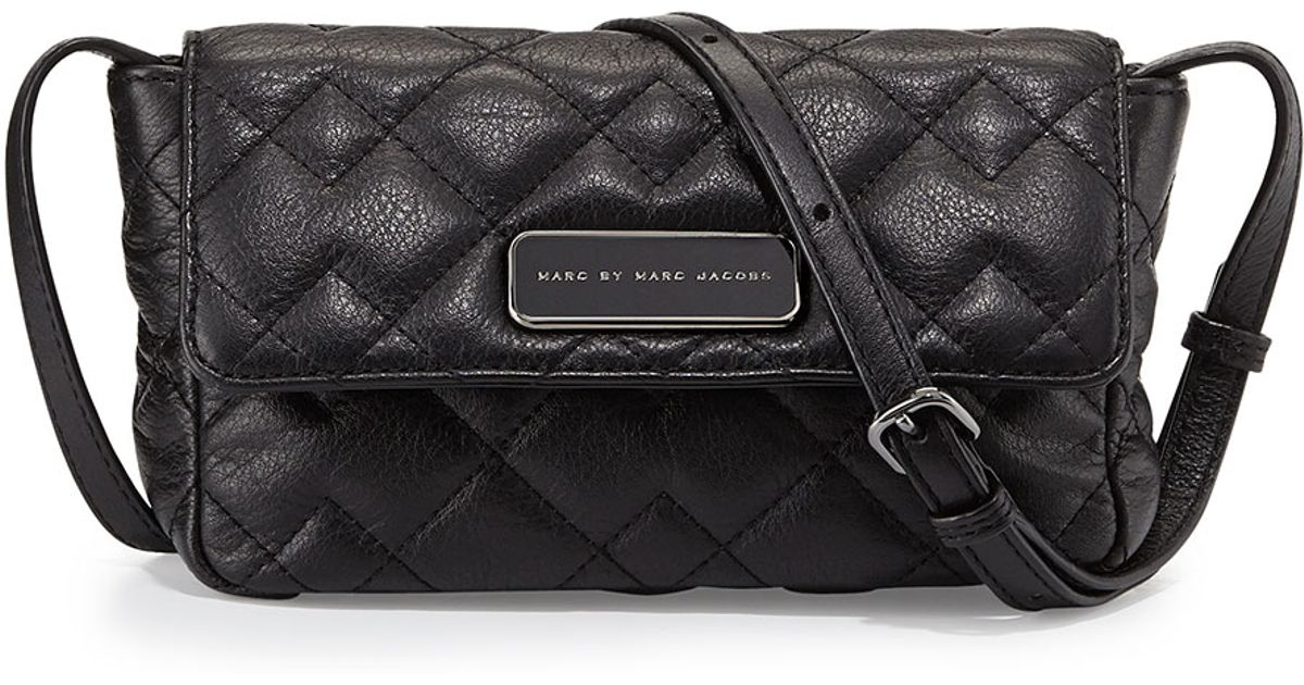 Marc by marc jacobs Julie Crosby Quilted Crossbody Bag in Black   Lyst : marc jacobs quilted crossbody bag - Adamdwight.com