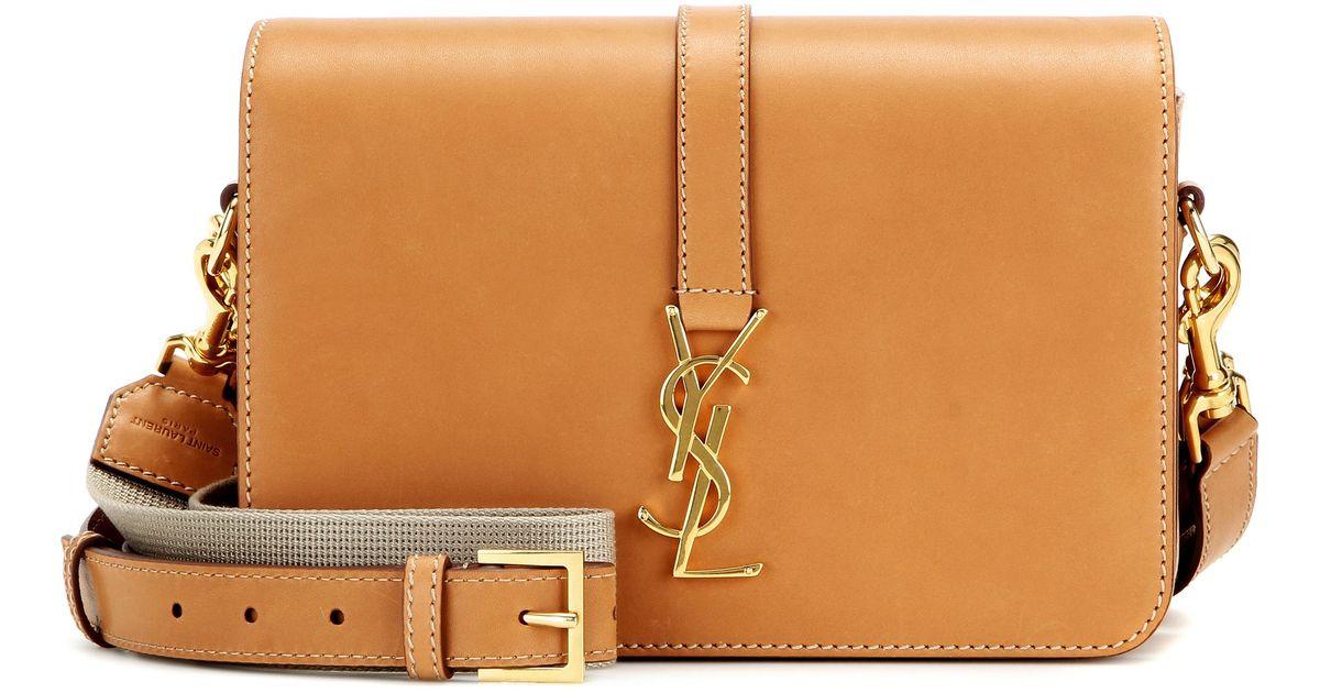 Lyst - Saint Laurent Monogram Université Medium Leather Shoulder Bag in  Brown 988dc8cf97d04