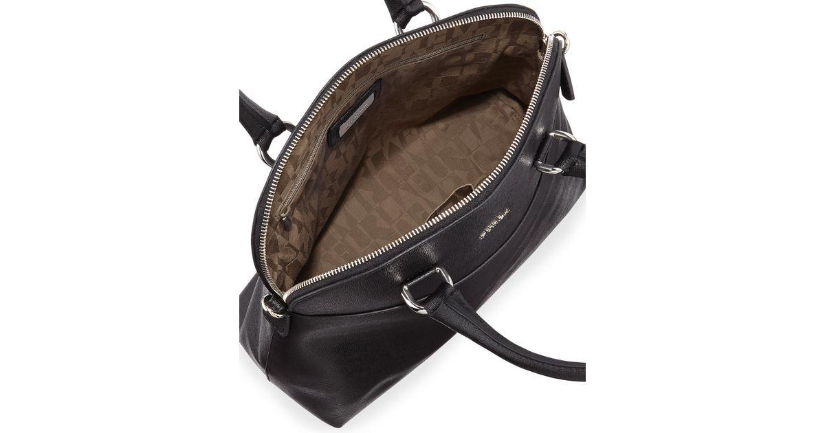 3c4e9724a8c1b Lyst - Furla Victoria Saffiano Dome Satchel Bag Onyx in Black