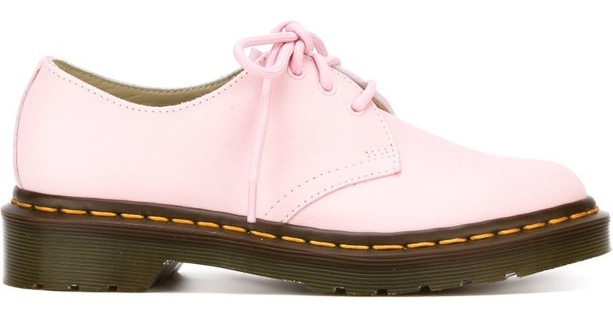 Dr. Martens 3 Eye Oxford Shoes In Pink (PINK/PURPLE) | Lyst