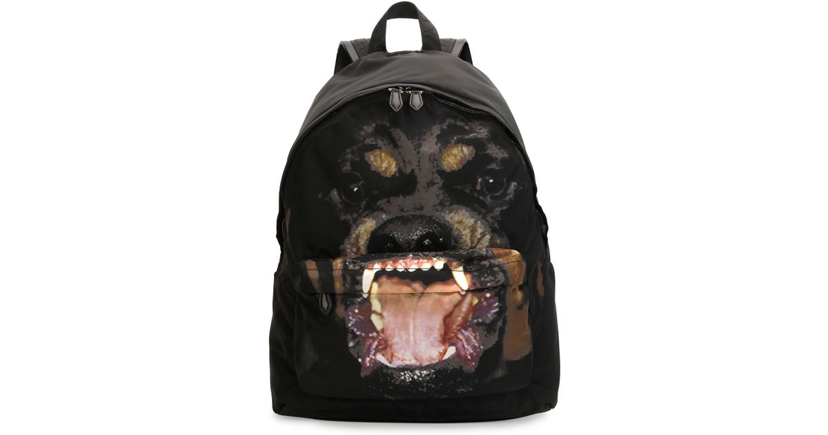 Lyst - Givenchy Rottweiler Nylon Backpack in Black for Men 48b4764935845