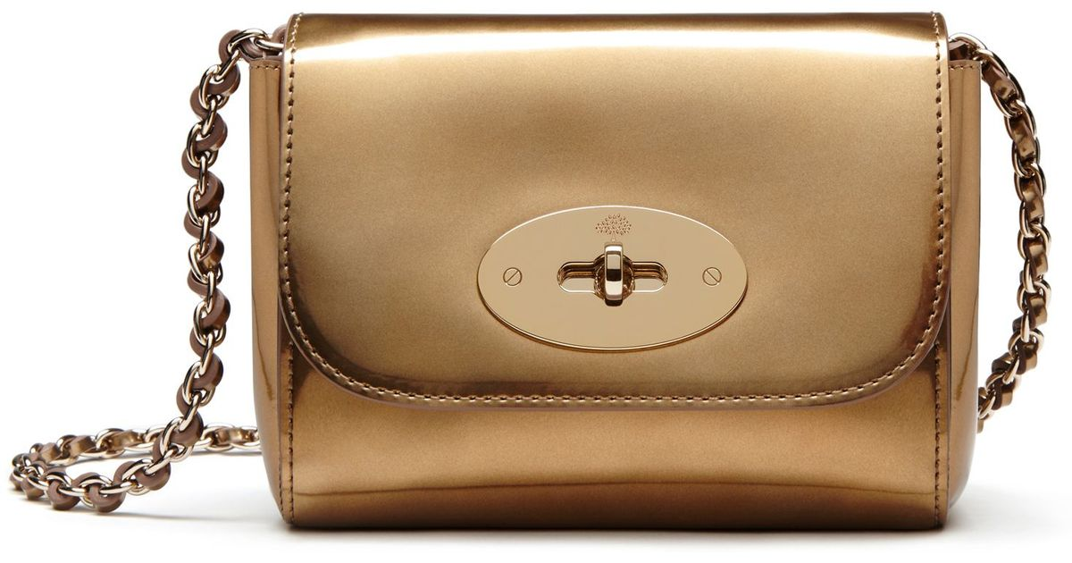 Lyst - Mulberry Lily Mini Metallic Patent-leather Shoulder Bag in Metallic 49ab00f15eebc